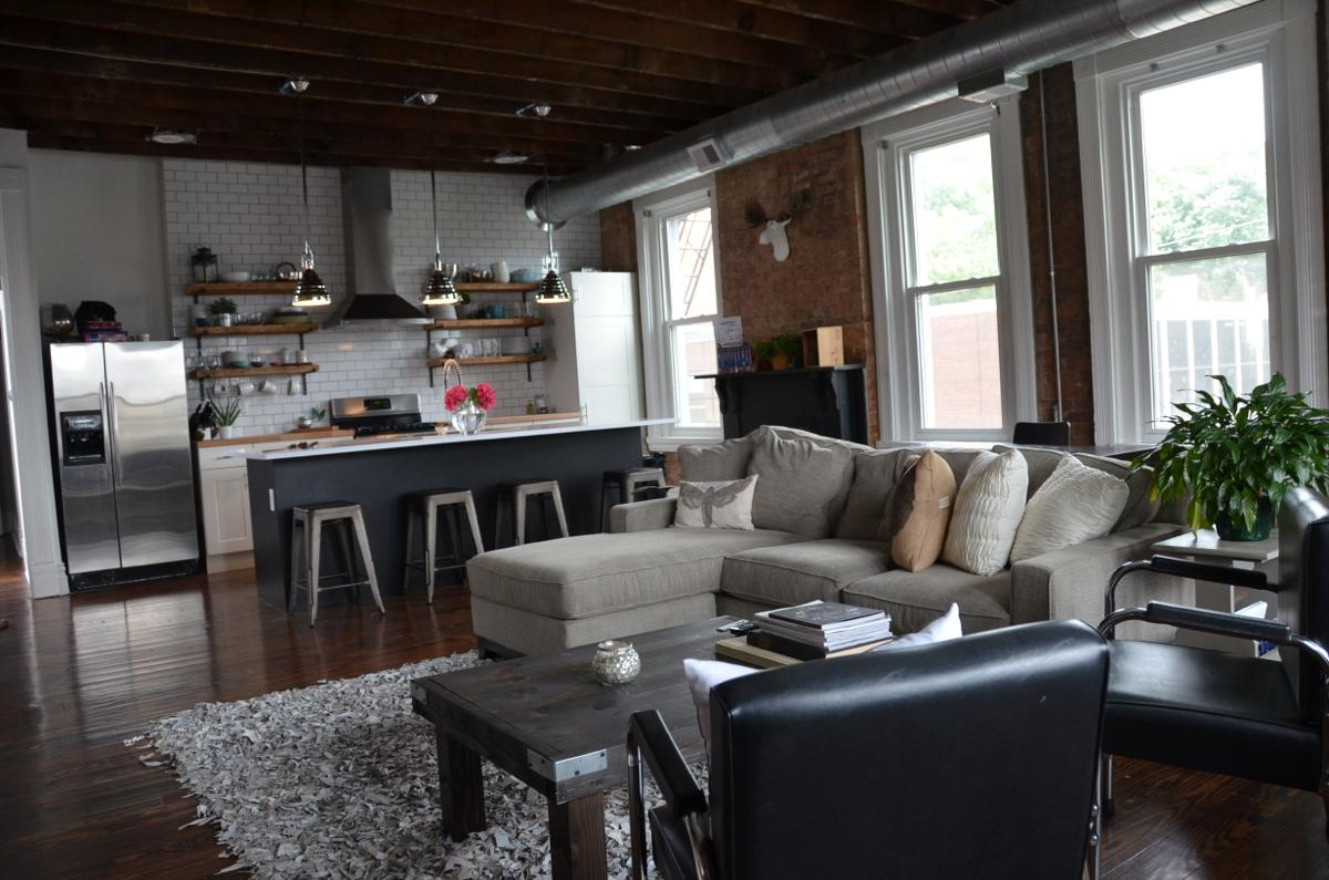 Jessie Deye purchased and then renovated a 135-year-old building in OTR, turning the top two levels into her personal condo. This is her home. Isn't it awesome? [Image: Leah Zipperstein / Cincinnati Refined]