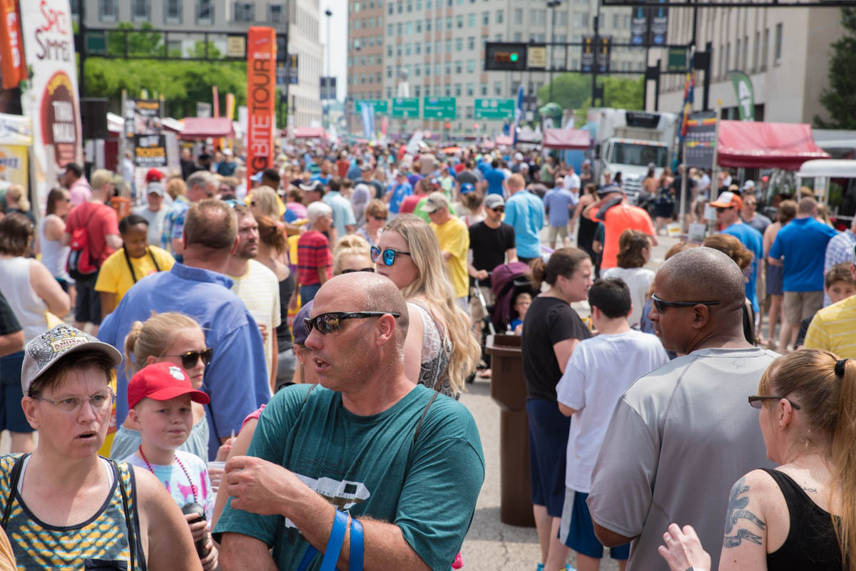 The 40th annual Taste of Cincinnati, which—fun fact—also happens to the be the nation's longest-running free culinary festival, is taking place this weekend (May 26-28) on 5th Street in Downtown Cincinnati. The festival includes food vendors, drinks, live music, and more. / Image: Sherry Lachelle Photography // Published: 5.27.18