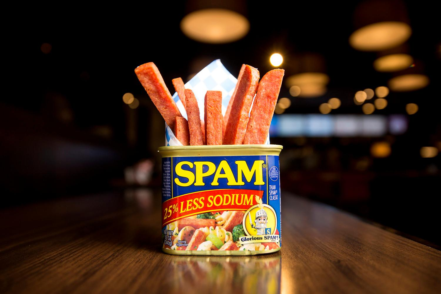 Spam Fries, served at Rain Cafe, located at 13200 Aurora Ave N. (Sy Bean / Seattle Refined)