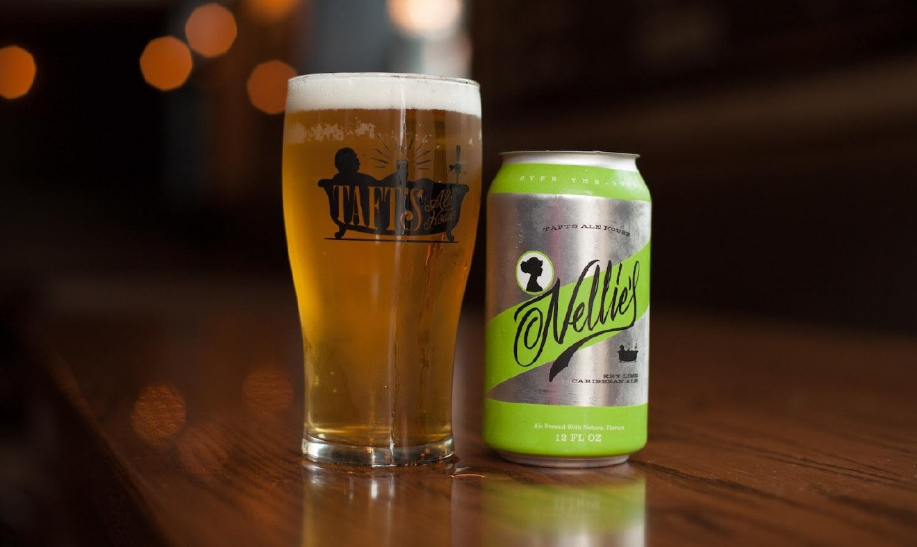 NELLIE'S KEY LIME CARIBBEAN ALE by Taft's Ale House / An American wheat beer brewed with key lime and a hint of coriander. / Image courtesy of Taft's Ale House // Published: 1.10.17