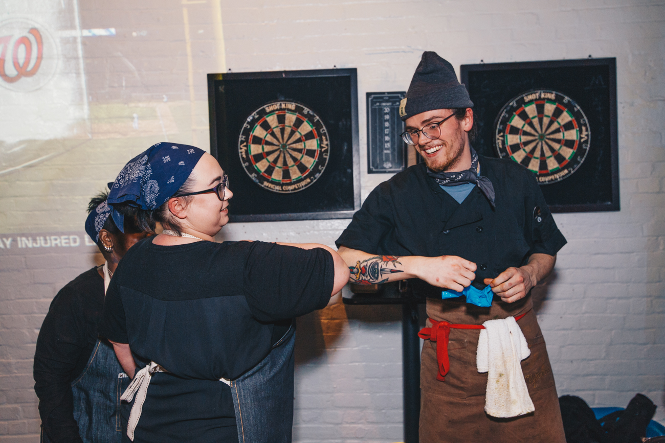 The Chef Battle Tournament Series made a stop on its national tour in Cincinnati on Monday, March 25, 2019. Queen City Exchange hosted the event. Local chefs had one hour to prepare a dish that complied with regulations and utilized a competitor's kit provided by the event organizer, Social Power Hour. One was named Cincinnati's Best Chef and will go on to compete in the Midwest Regional Chef Battle. / Image: Catherine Viox // Published: 3.26.19