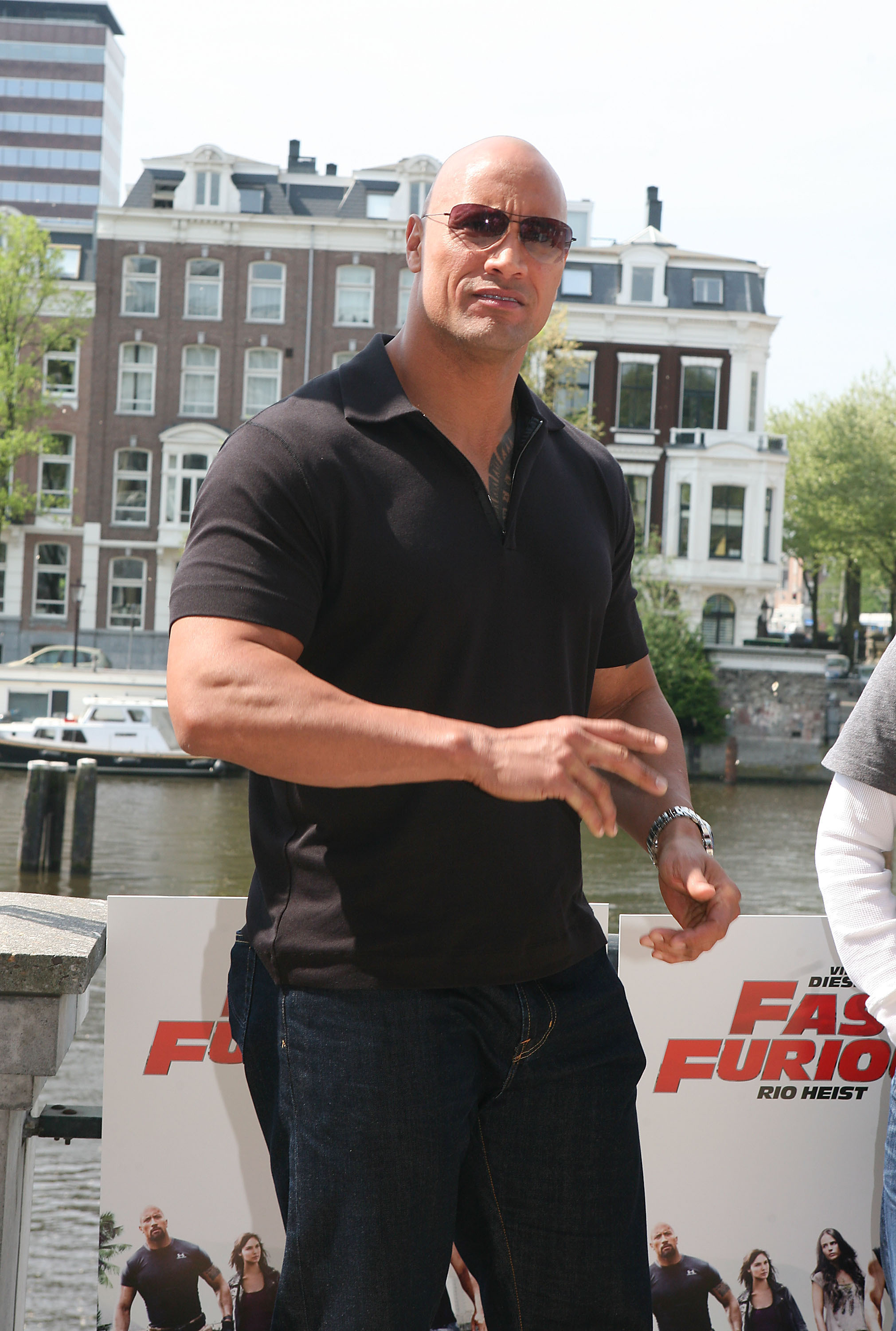 "Dwayne Johnson, aka The Rock                                   attends a Photocall for ""Fast & Furious 5: Rio Heist""                                   outside the Pathe Arena                                   Amsterdam, Netherlands - 26.04.11                                                                      Featuring: Dwayne Johnson, aka The Rock                                   Where: Holland                                   When: 26 Apr 2011                                   Credit: WENN"