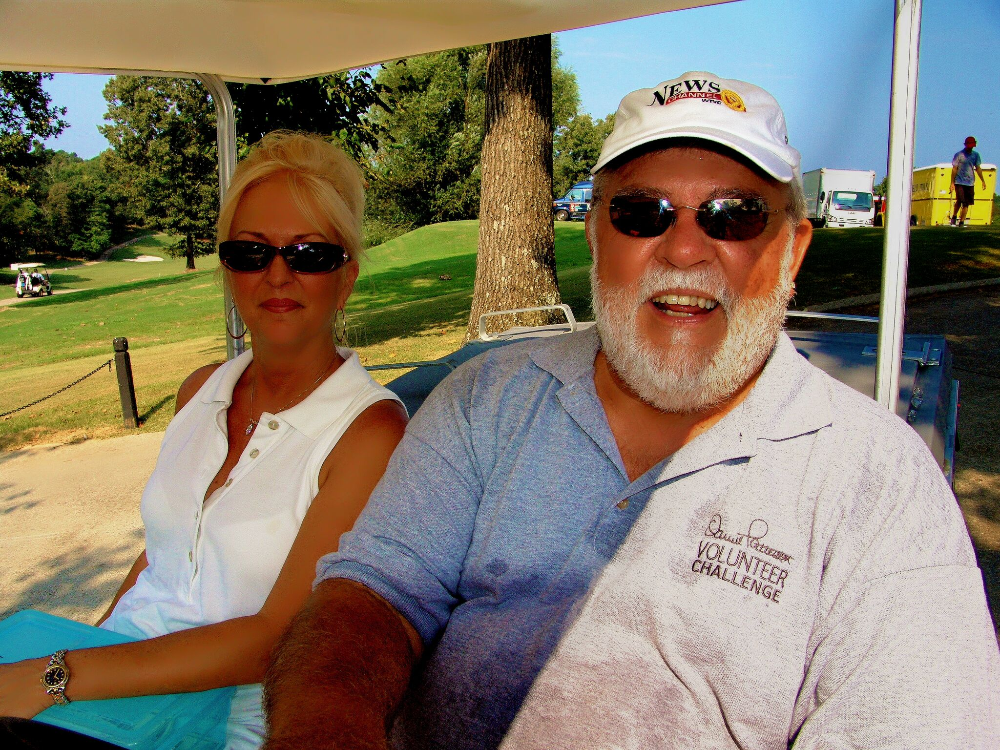 Don &amp;amp; his wife Sammie during the Darrell Patterson Volunteer Challenge. (Image via John Creel)<p></p>
