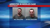 Two men accused of throwing needles from vehicle near park where kids play