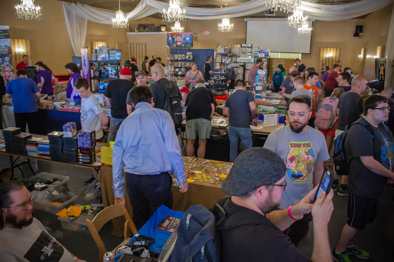 The CinciClassic Expo 2019 took place in the Highlander Event Center inside the Fort Thomas Antique Mall on Saturday, May 18. The kid and fan-friendly event celebrated all things video games with classic arcade and video games set up, gaming tournaments, a celebrity guest, and vendors selling rare devices, collectibles, games, merchandise, and handmade art pieces around every corner. Proceeds from the video game tournaments went towards the Dragonfly Foundation—an organization that supports pediatric cancer patients and their families through special events, programs, and emotional caregiving to ensure each child is reminded that they are still themselves. / Image: Ryan Henry // Published: 5.19.19