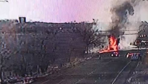 Tanker crash, fire closes Highway 40 in both directions (Photo: UDOT camera)<p></p>
