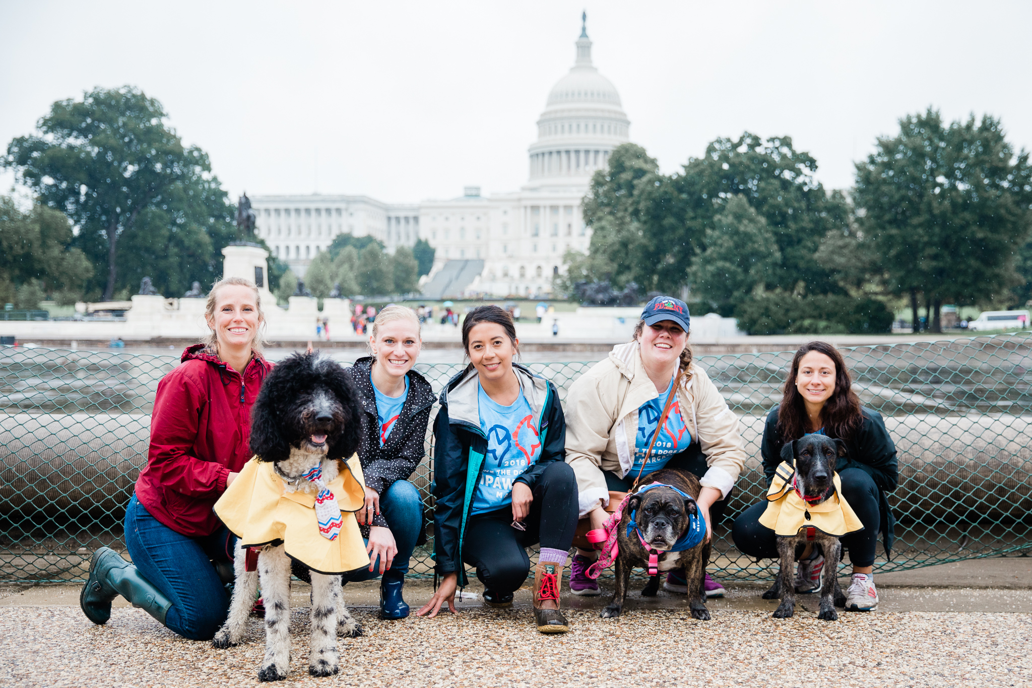 "Despite the never-ending rain, the second annual Bipawtisan March brought dogs from both sides of the aisle together to march from Capitol Hill to 'yappy hour' at Wunder Garten for beer and pup-friendly treats. The event, organized by a female-run non-profit WeTheDogsDC, had approximately 100 participants and raised $10,000 for more than 30 rescue organizations around town. According to the organizers, ""the mission of the Bipawtisan March is to show that no matter what side of the aisle you stand on, the love we have for our pets transcends all political agendas and is a cause that we can all support."" Attendees were encouraged to don costumes showing what they were marching for and to carry family-friendly signs. 100 percent of the event proceeds were donated to rescue organizations.(Image: Aaron Wong Photography)"