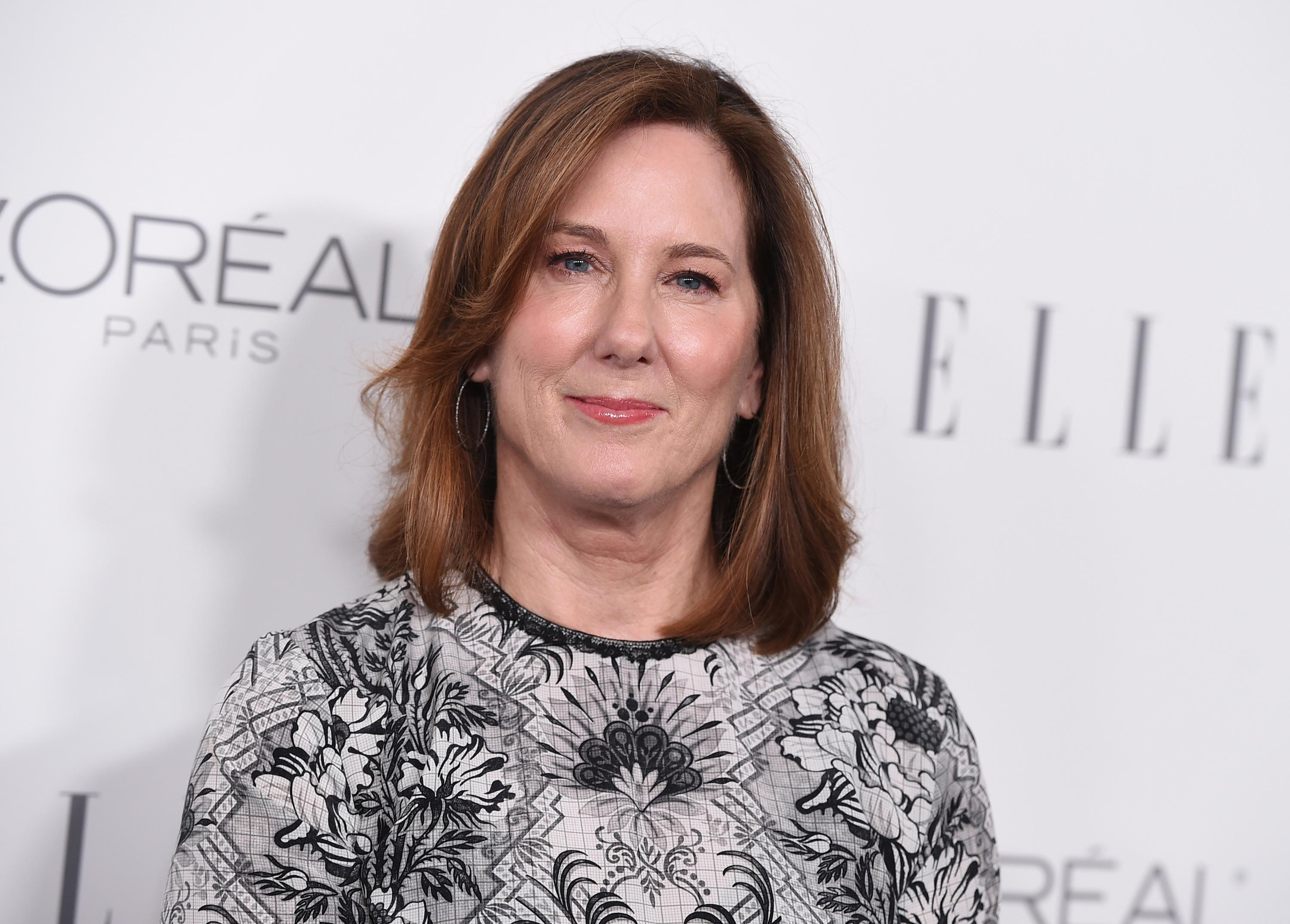 "FILE - In this Oct. 16, 2017 file photo, Kathleen Kennedy arrives at the 24th annual ELLE Women in Hollywood Awards at the Four Seasons Hotel Beverly Hills, in Los Angeles. Hollywood executives and other major players in entertainment have established a commission to be chaired by Anita Hill that intends to combat sexual misconduct and gender inequities across the industry. The group grew out of a meeting called by ""Star Wars"" producer Kennedy and several other prominent women in the entertainment industry. (Photo by Jordan Strauss/Invision/AP, File)"