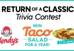 Win Free Wendy's Taco Salad for a Year! Trivia Contest