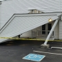 UHaul rams into awning at Glen Burnie funeral home