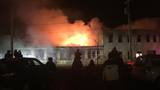Two firefighters injured in large downtown fire in Watertown