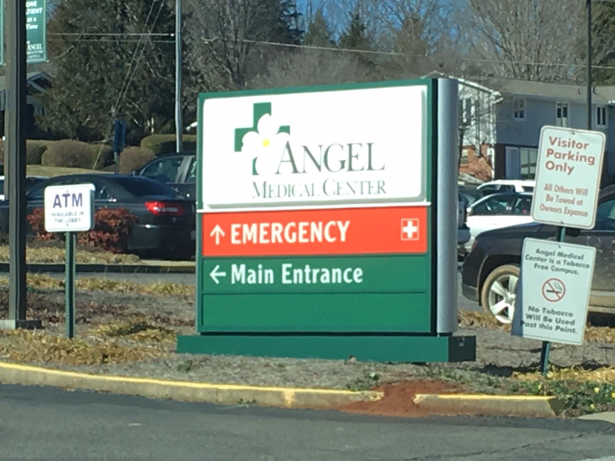 Mission Health is considering re-positioning its medical helicopter currently based at Angel Medical Center in Franklin. (photo credit: WLOS staff)