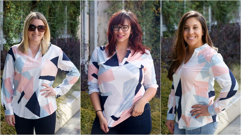 DC Refined staff in a blouse ordered from Amazon (Amanda Andrade-Rhoades/DC Refined)<p></p>