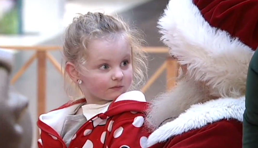 Santa Claus at Valley River Center on December 11, 2017. (Still from video by Loren Ruark)<p></p>