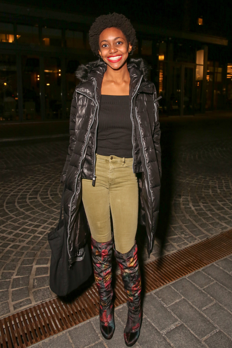 The debate is over - puffy jackets are fashionable, especially with Kayla Williams' over-the-knee boots.{&amp;nbsp;}(Amanda Andrade-Rhoades/DC Refined)<p></p>