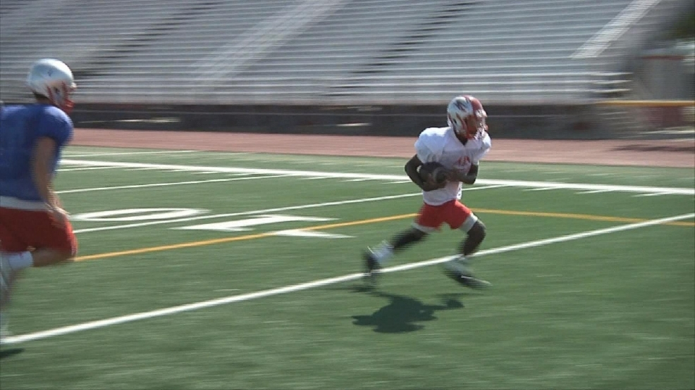 Sharyland Filling Spots, Answering Questions-CBS 4 Spring Football Tour