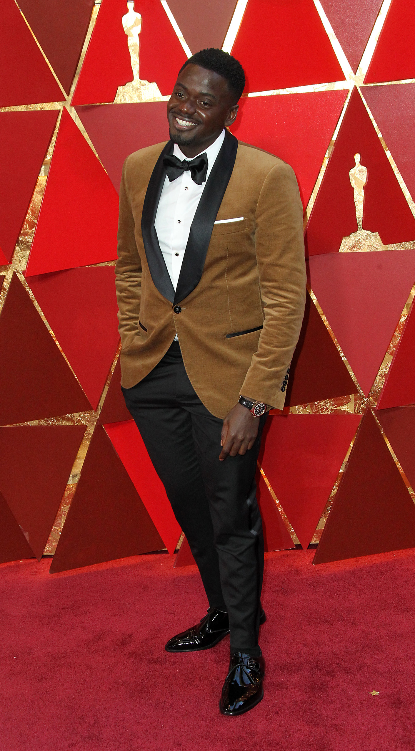 Daniel Kaluuya{&amp;nbsp;}arrives at the 90th Annual Academy Awards (Oscars) held at the Dolby Theater in Hollywood, California. (Image: Adriana M. Barraza/WENN.com)<p></p>