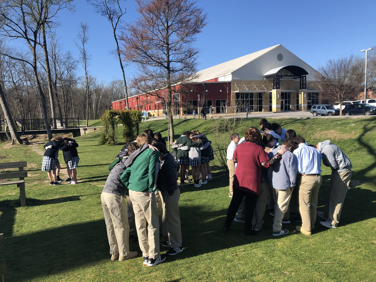 Students at Silverdale Academy take part in the walkout. (Source: Silverdale Academy)