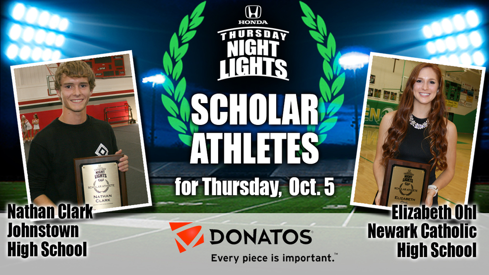 Congrats to the Donatos Scholar Athletes Nathan Clark and Elizabeth Ohl!