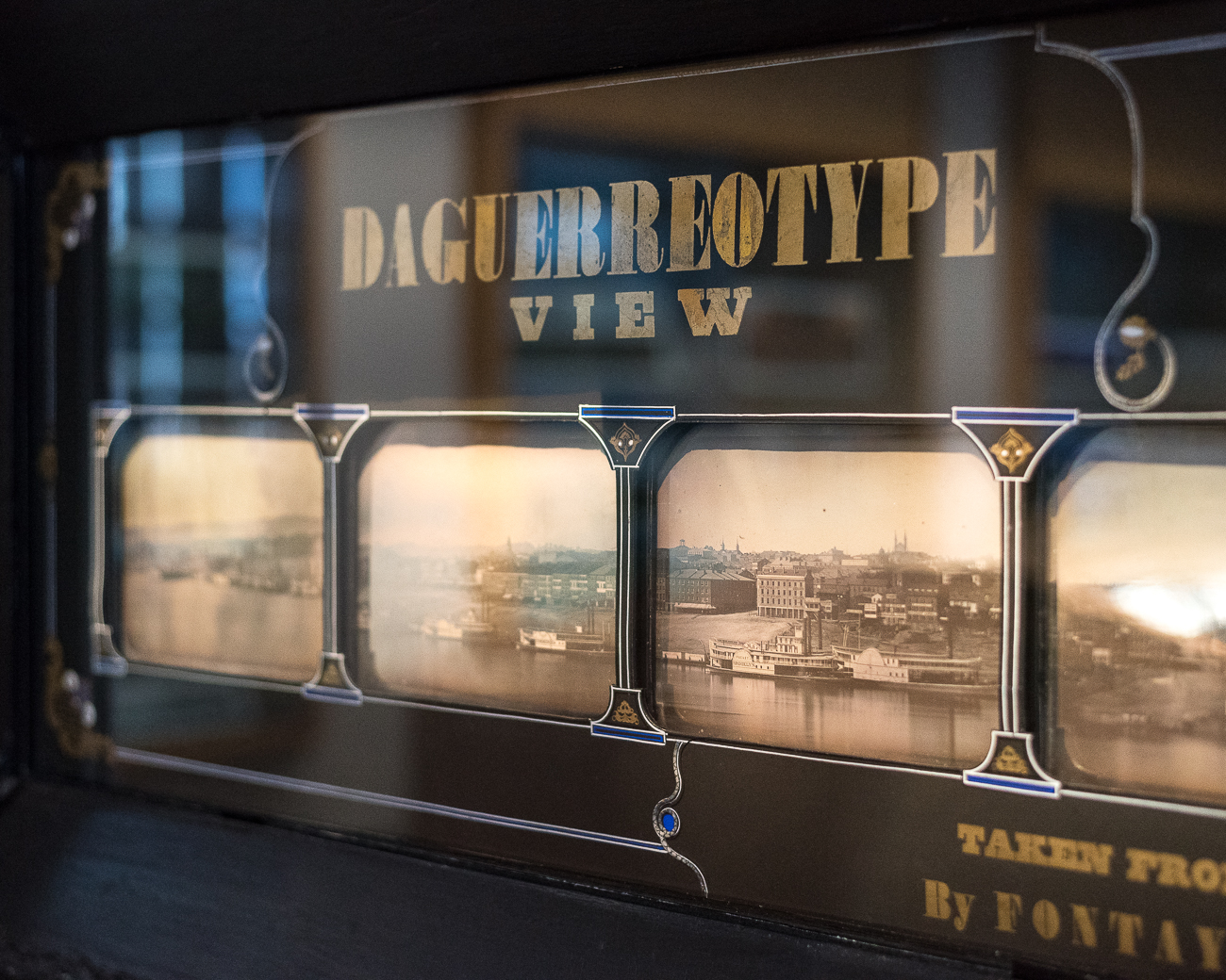 The original 8-panel Daguerreotype created in 1841 is preserved and on display in the exhibit. / Image: Phil Armstrong, Cincinnati Refined // Published: 10.4.18