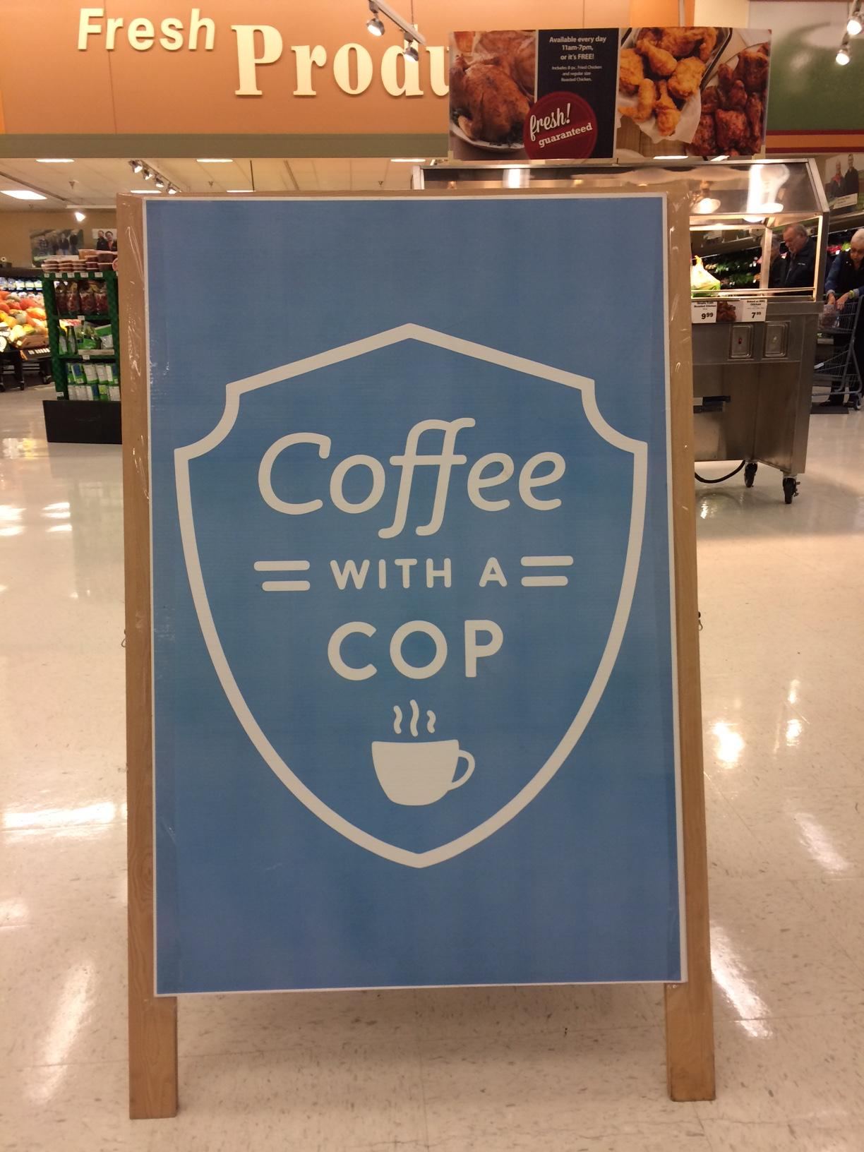 National Coffee with a Cop Day is celebrated across the country. It provides an opportunity for police officers to connect with the public. (SBG photo)