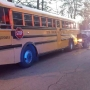 Police investigating Friday morning school bus vs. SUV accident