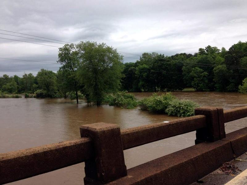 Tallapoosa River bridge in Wadley, Alabama Saturday, May 18, 2013. Photo from DeLane Hodges Vansandt