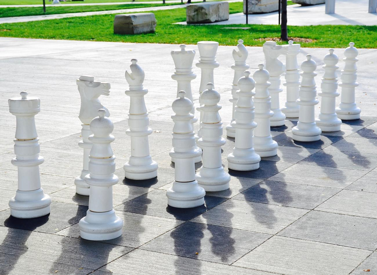Life-size chess under the Roebling Bridge / Image: Leah Zipperstein, Cincinnati Refined // Published: 10.31.17