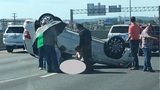 Rollover accident on I-10 West ties up traffic on NW Side