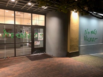Portland Mexican consulate vandalized. Credit PPB. JPG