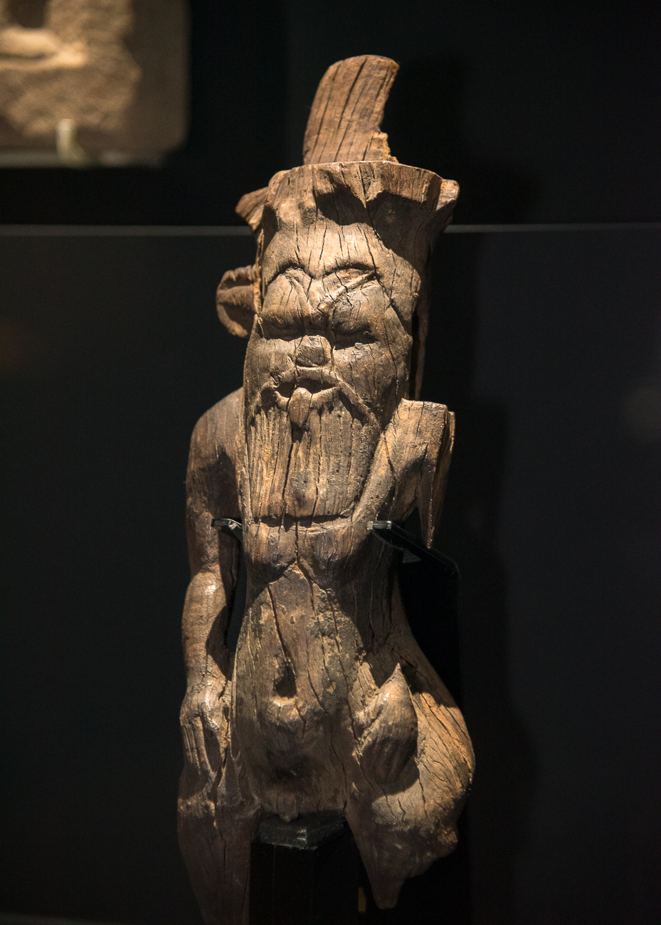 A wooden figure of the home deity Bes from 1400-1100 BC{ }/ Image: Phil Armstrong, Cincinnati Refined // Published: 2.15.19