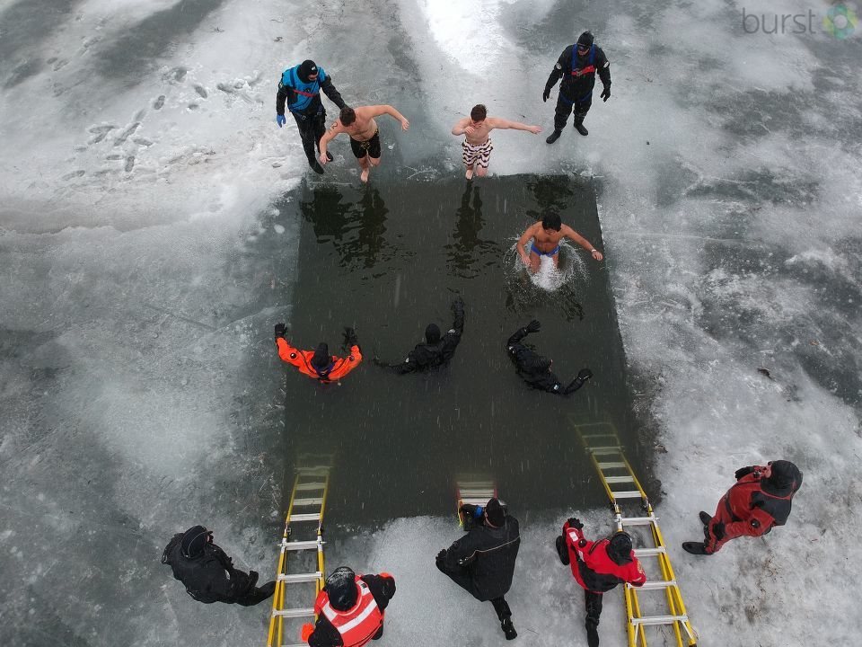 Hundreds took part in the Fenton Polar Plunge to help raise money for the Michigan Special Olympics. (Photo Credit: Mike Millinkov)