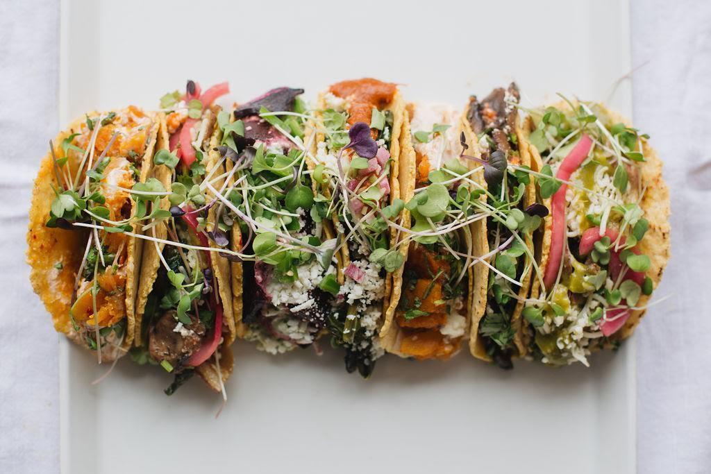 A rotating seasonal taco menu will be available as well, with options like the roasted butternut squash with goat cheese, caramelized onions, chipotle yogurt and mint. (Image: Maya Oren)