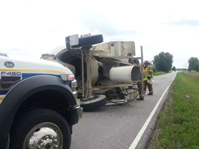 Cement truck crash on Highway 3 in Adair County, Mo.