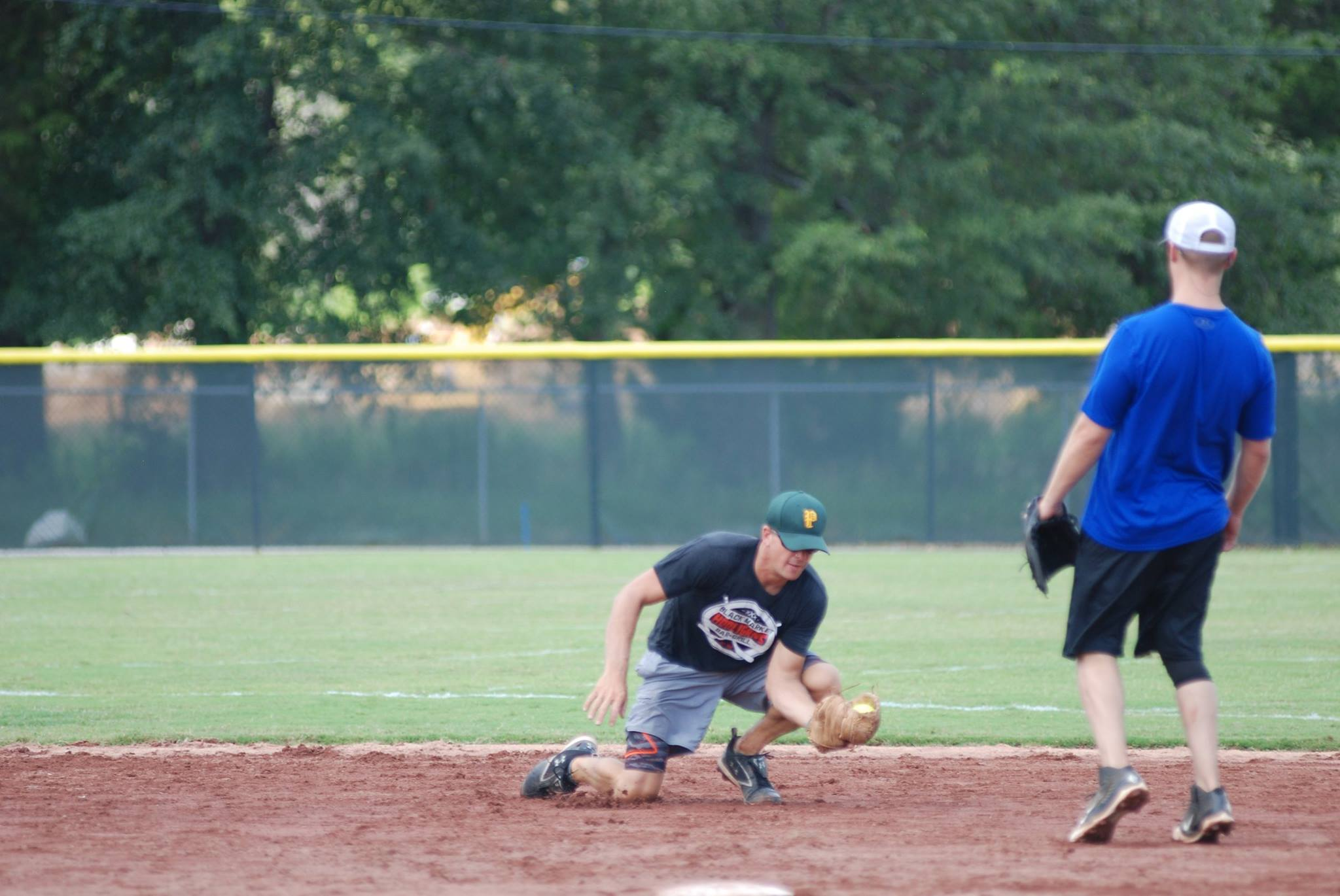 Jason Aldean and crew made their way to Pelham to play a few friendly games of softball against Pelham PD.  (Courtesy Pelham Police Department)