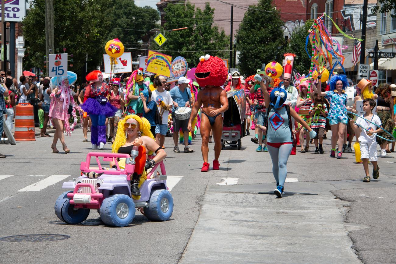 Northside's Fourth of July Parade was held on Wednesday, July 4. It began at the northern edge of Northside and traveled a mile down Hamilton Ave, ending at Hoffner Park where a festival ensued. It has been held annually since the 1970s. / Image: Doc Sanders // Published: 7.6.18