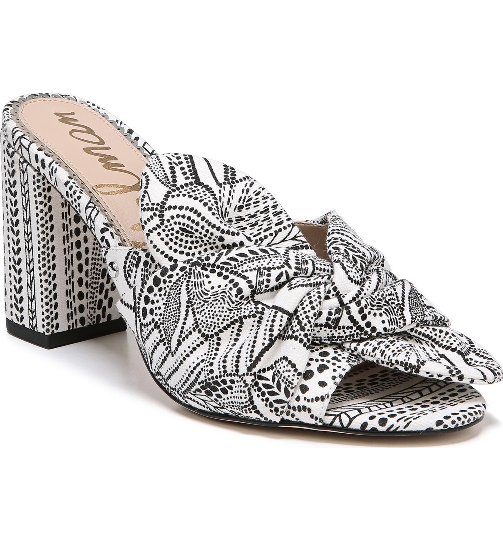 Oda Slide Sandal was originally $119.95 and is now $83.96.<p>A bold pattern enlivens an easy slide sandal lofted by a wrapped block heel.</p><p>(Image: Nordstrom)</p>