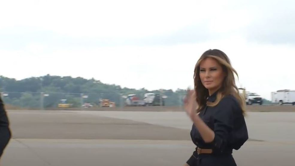 First lady Melania Trump visits W Va  to hear how officials fighting