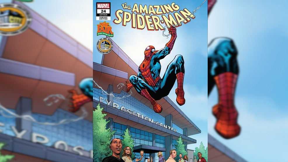 Special comic featuring Spider-Man at the Expo Center coming to the Fair, Comic Con