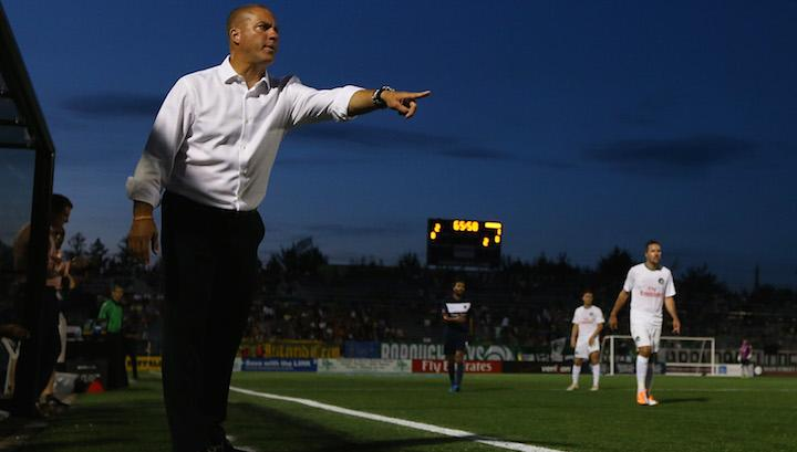 Giovanni Savarese at James M. Shuart Stadium on June 13, 2015 in Hempstead, New York. Photo courtesy Portland Timbers{ }
