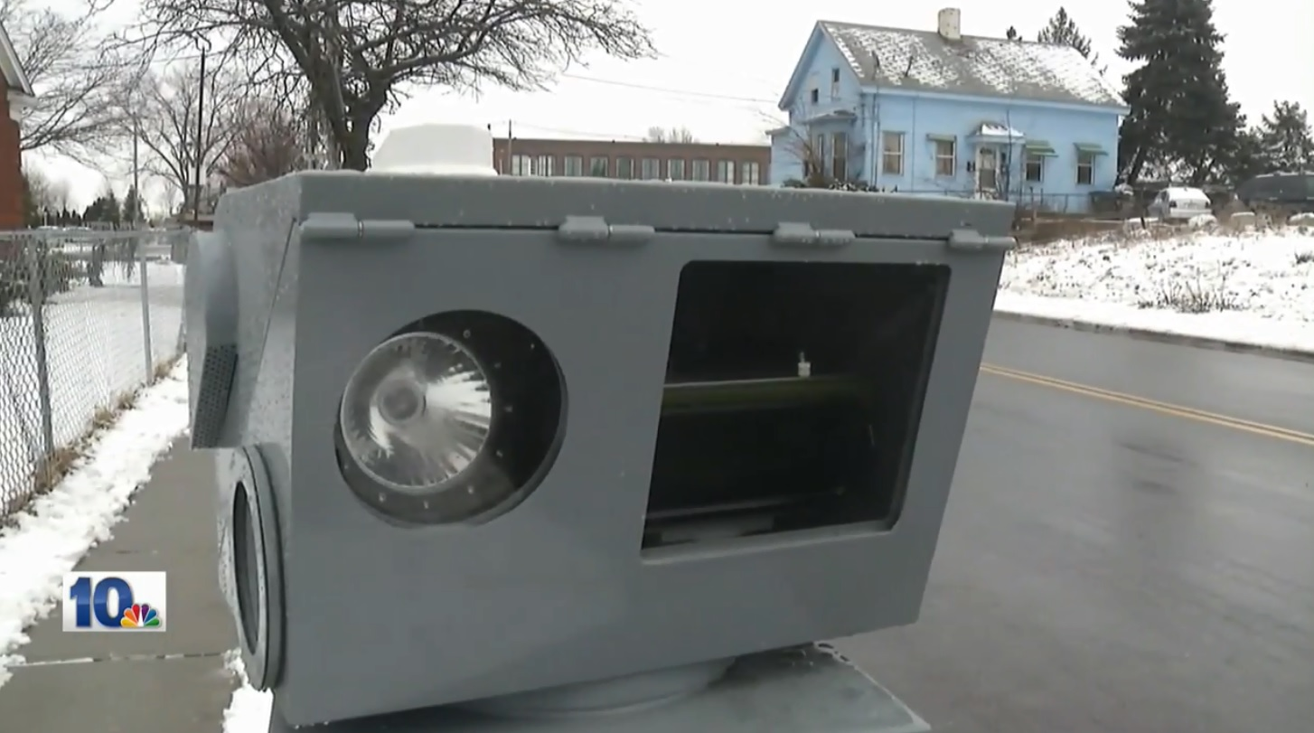 Providence police are searching for suspects in the theft of a new camera used to catch speeding drivers. (WJAR)