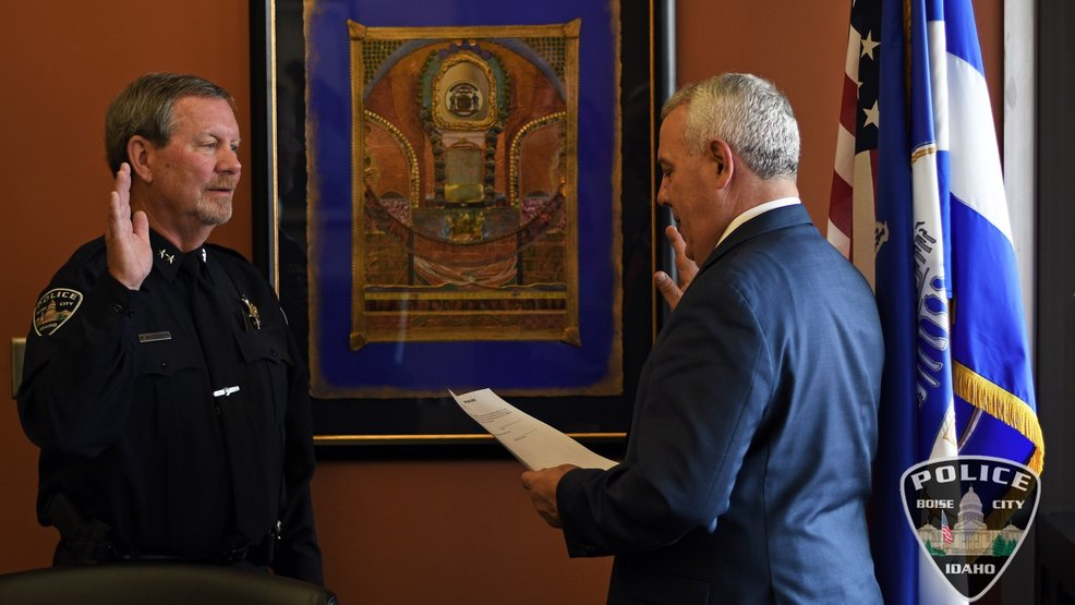 Boise Police formally swears in new interim chief Mike Masterson