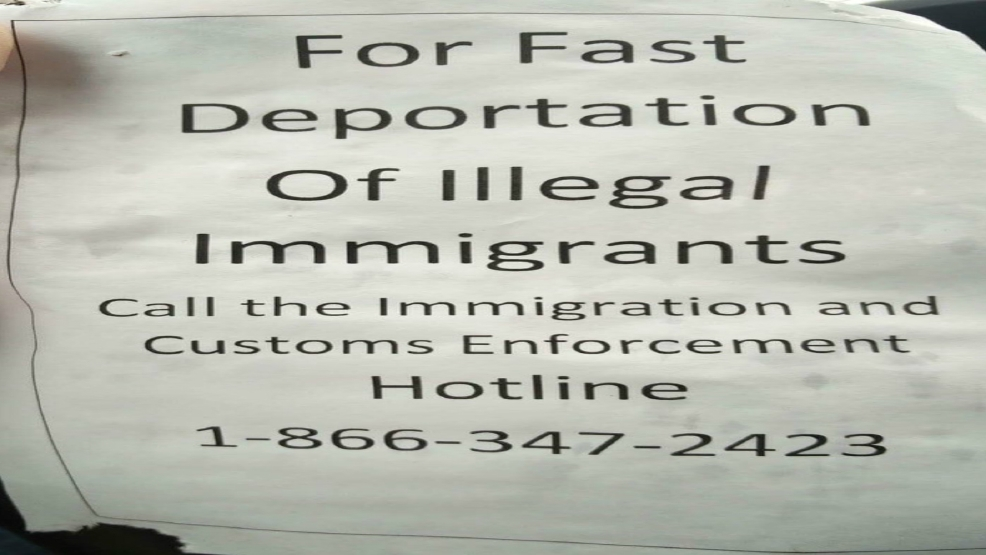 Signs for reporting illegal aliens in South Seattle stir neighborhood