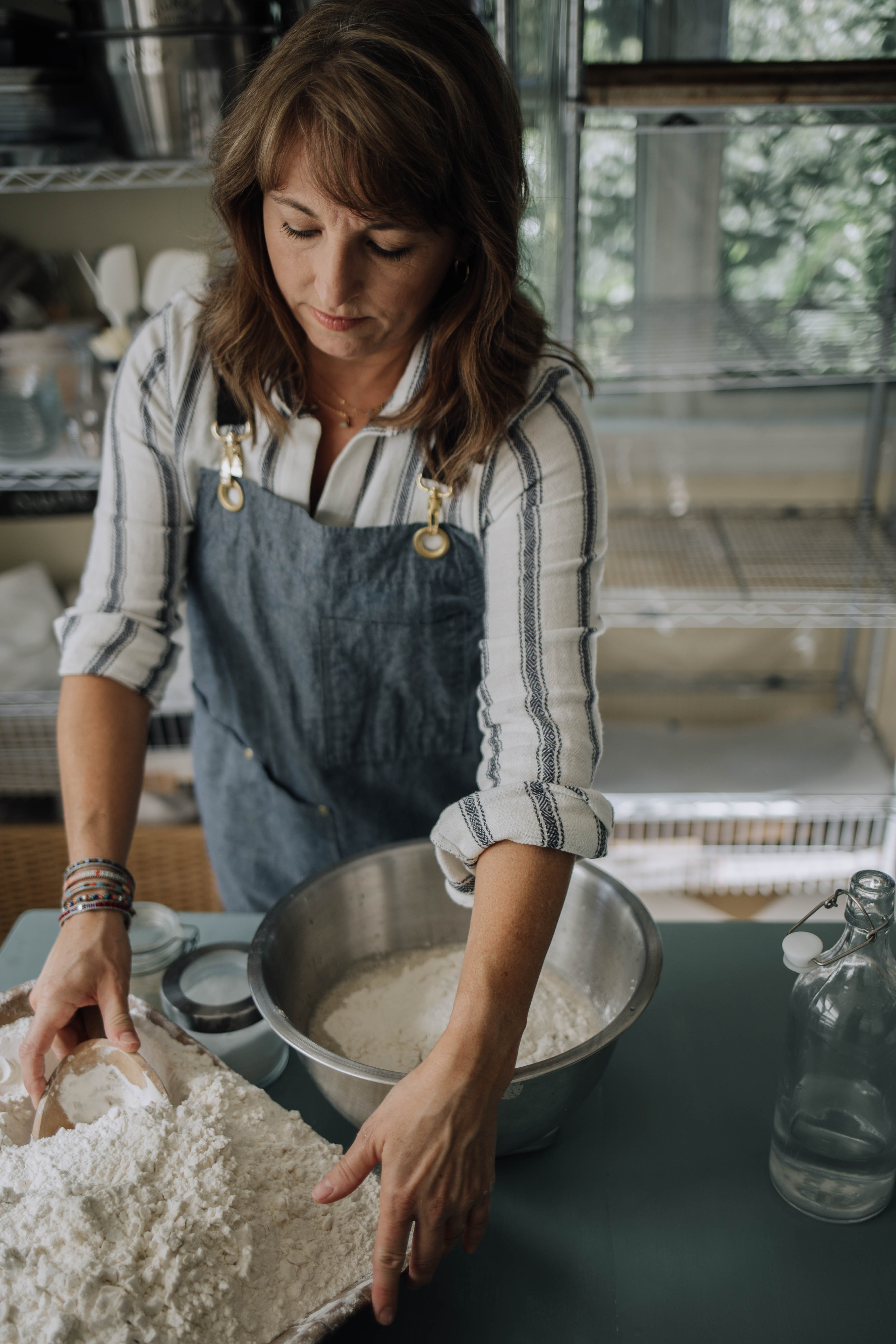 Friend demonstrates how to make dough in her Knead and Know classes{ }(Image: Courtesy Melinda Friend)