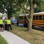 South Bend school bus rear-ended at Ewing and Fellows