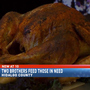 Two brothers provide Thanksgiving meals for those in need