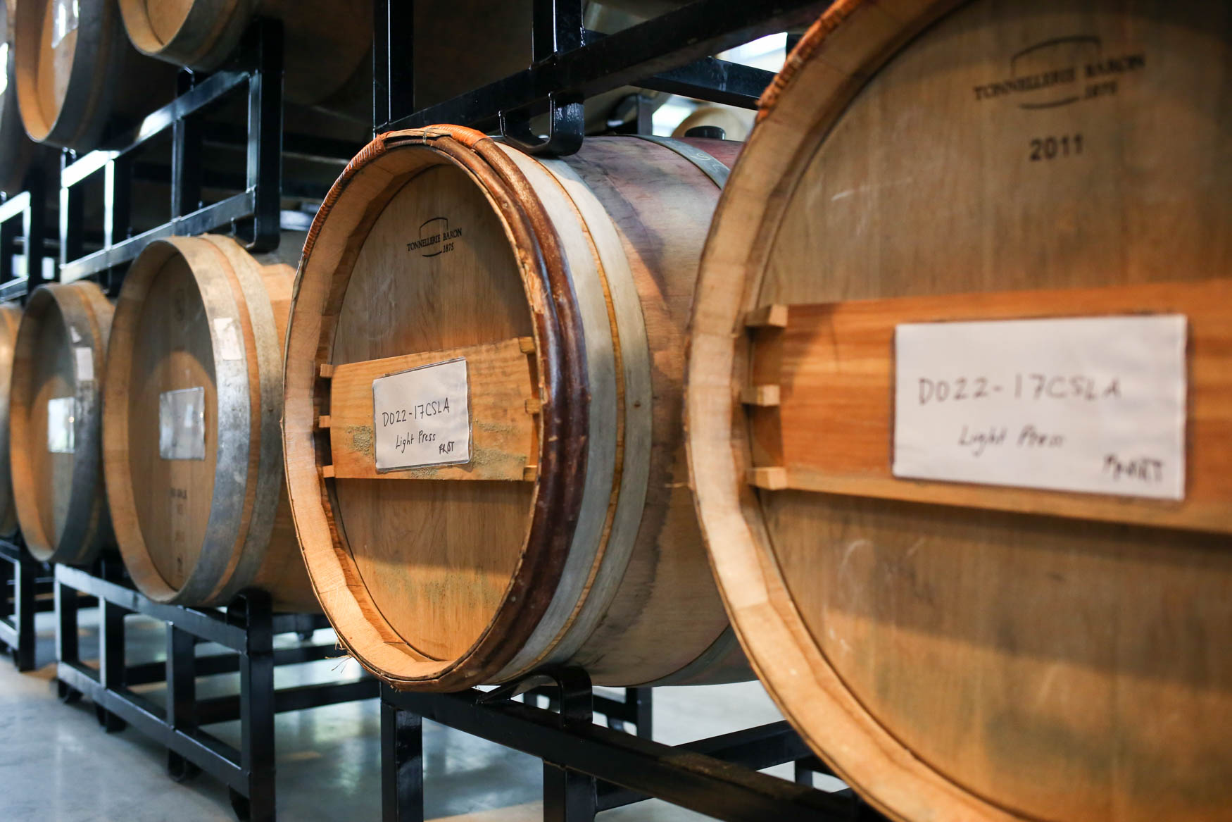 The wine is stored in oak barrels.{ }(Amanda Andrade-Rhoades/DC Refined)