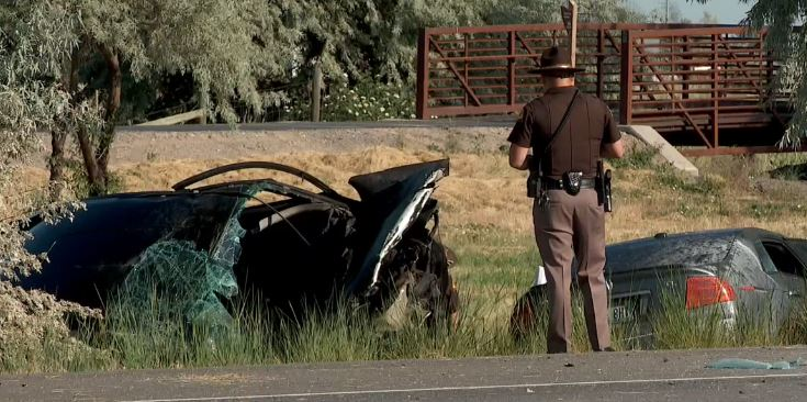 A man was killed on the Legacy Highway when a car crossed over from northbound lanes and hit his car headed southbound. (Photo: KUTV)