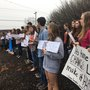 Polk County students walk out of class to protest gun violence