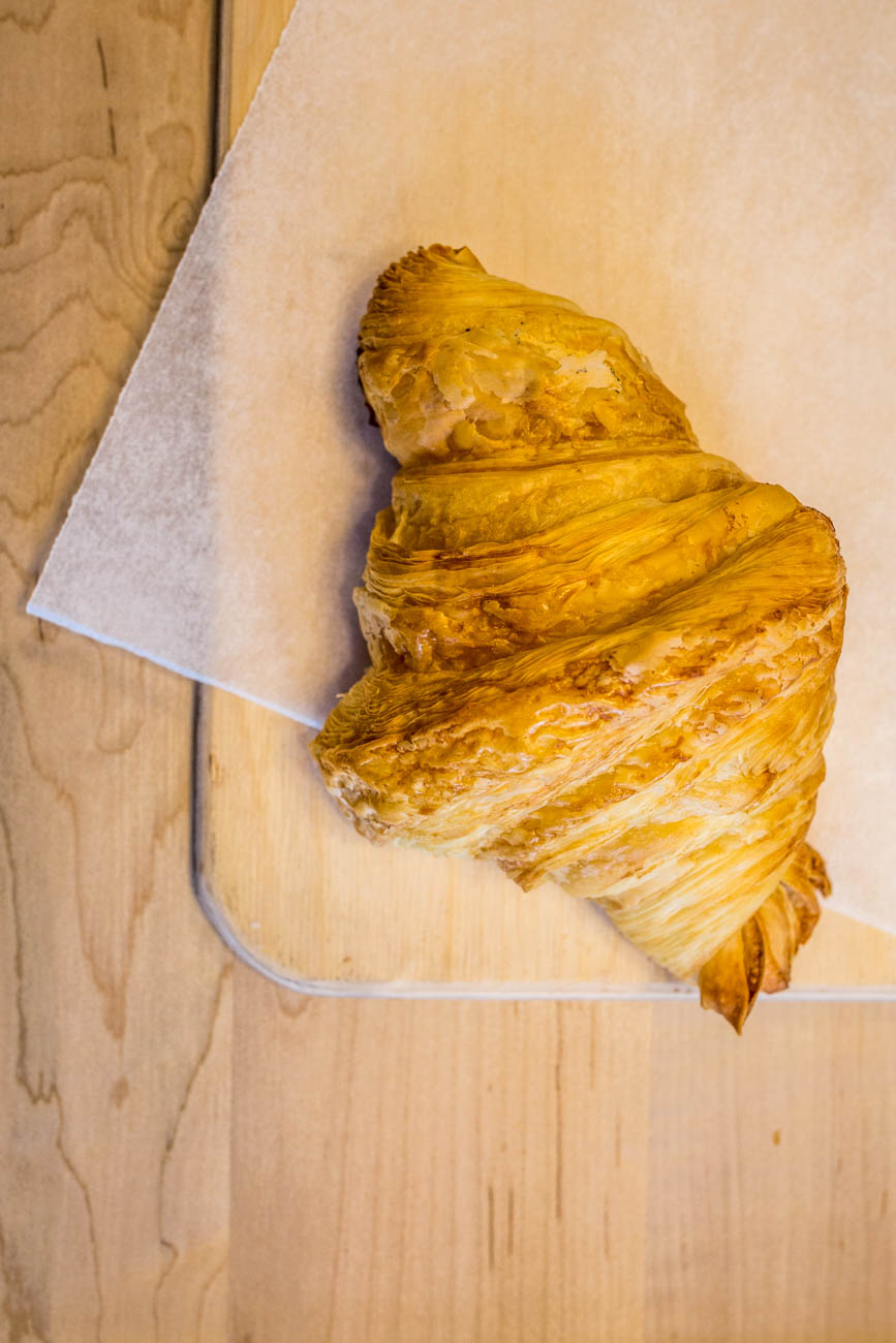 A classic croissant from Mainwood Pastry / Image: Catherine Viox // Published: 1.4.20